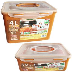 BPA Free Korean Red Clay HWANGTO Vacuum Airtight Kimchi Container 4L