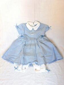 Portofino-Baby-Kleid-Gr-68-NEUWARE-Maedchen-Einteiler-mit-eingenaehtem-Hoeschen