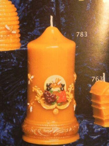783 ,Imker,Kerzen giessen Kerzengießform,Imkerkerze 17x8cm,Bienenwachs,Imkerei