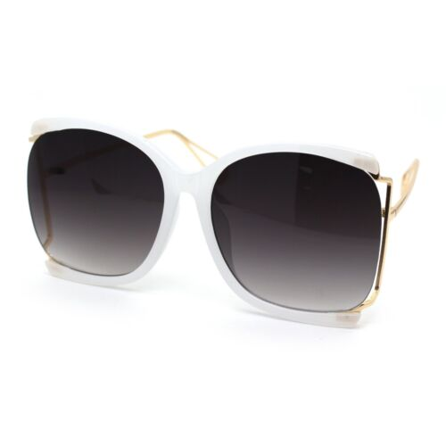 Womens Side Exposed Lens Oversized Butterfly Sunglasses