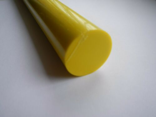 ACETAL C POM  DELRIN MEDICAL GRADE YELLOW ROUND ROD 60MM 25mm  PLASTIC