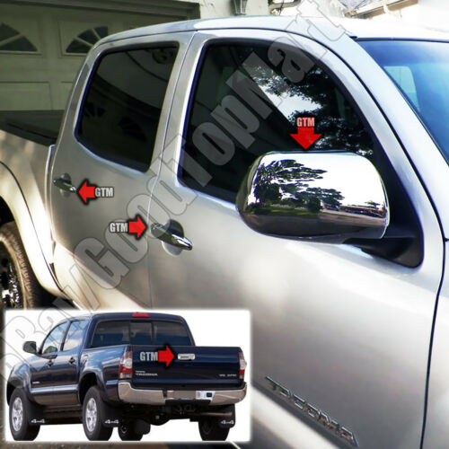 For 2005-2010 TOYOTA Tacoma Chrome Covers 4 Door Handles+Mirrors+Tailgate w//Cam