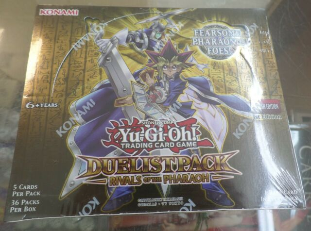 YuGiOh Duelist Pack Rivals Of The Pharaoh Booster Box Sealed 36 Pks  1st Edition
