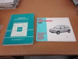 1991 Ford Festiva shop service dealer repair wiring manual ...