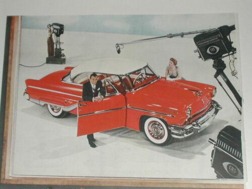 1955 Lincoln Capri ad, Ed Sullivan, color photo, CBS TV