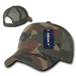 Woodland Camouflage Camo Mesh Flat Bill Snapback Trucker Baseball Ball Cap Hat