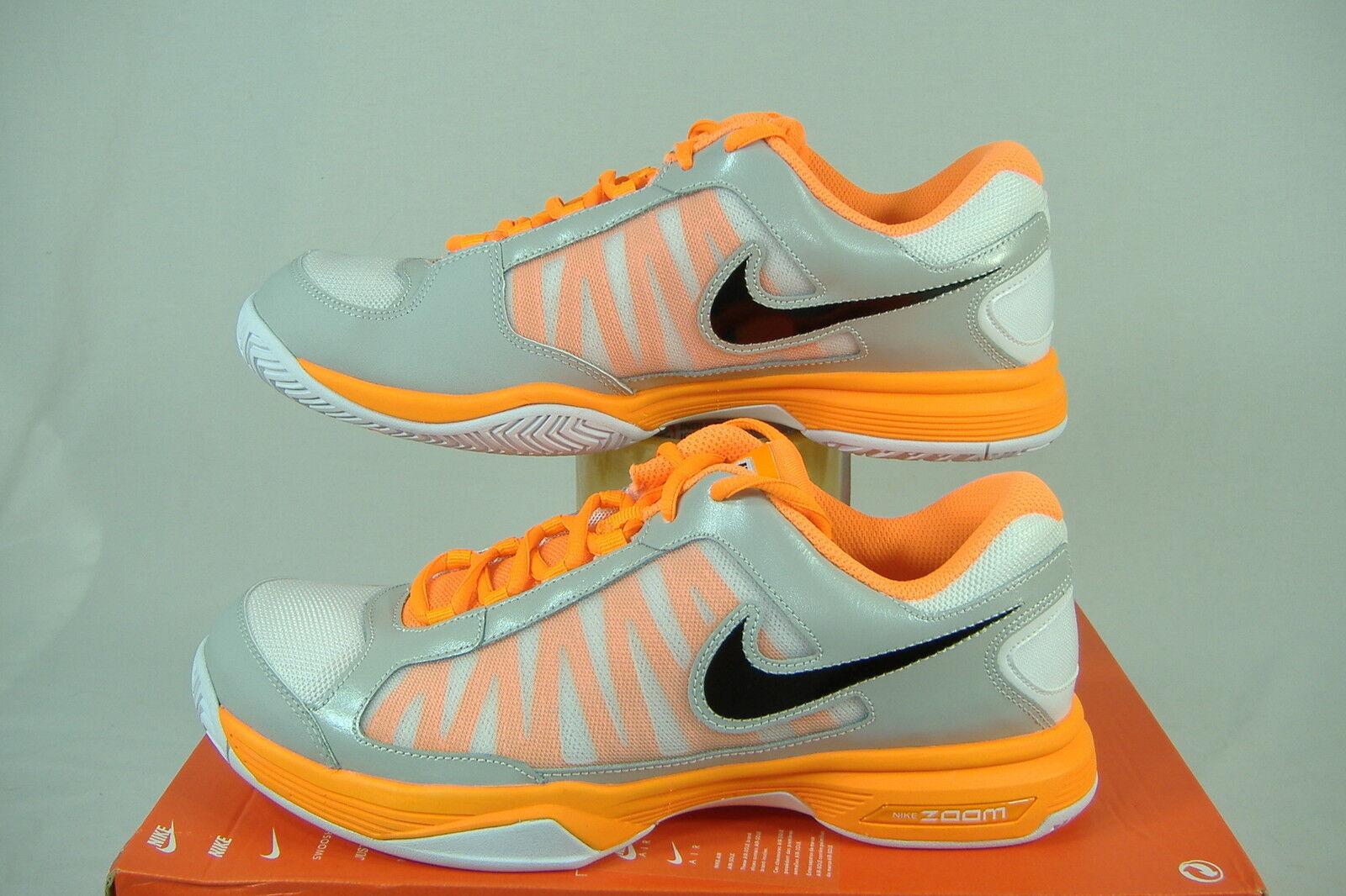 neue frauen 11,5 nike zoom courtlite 3 gray 487996-108 orange schwarz arbeiten shoes80 487996-108 gray eb47f9