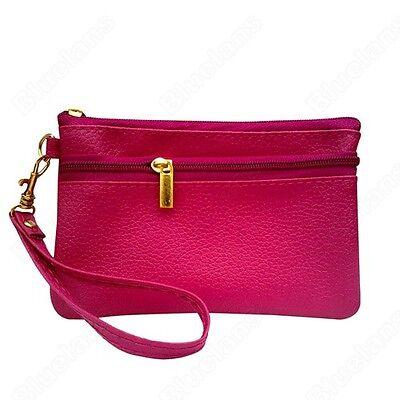 Faux Leather Womens Wristlet Clutch Evening Bag Handbag Purse CellPhone Bag BA4U