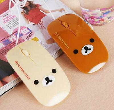 KT166 Rilakkuma san-x Relax Bear 2.4GHz Wireless Optical Mouse 1pc ~Brown~