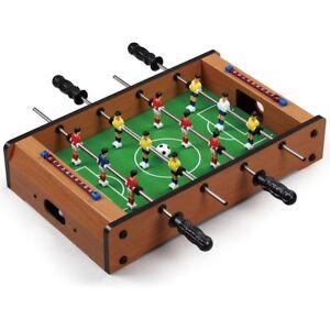 Calcio balilla biliardino da tavolo in legno con 4 stecche calcetto 51x31x10cm ebay - Calcio balilla da tavolo ...