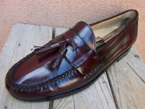 280cbb356bb ... COLE HAAN Mens Dress Shoes Classic Burgundy Tassel Loafers Casual Slip  On Sz 10B .