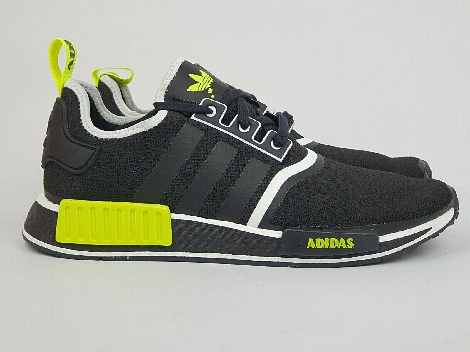 Adidas NMD R1 'Black Yellow White' New(US12) boost superstar air ultra max R2 og