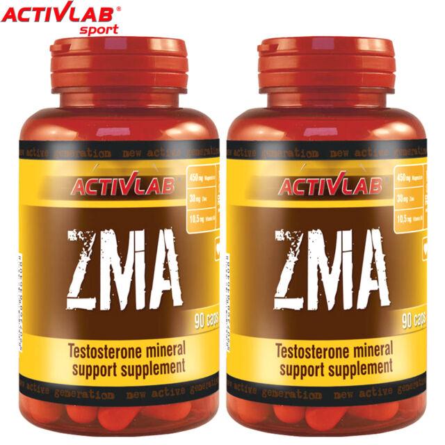 ZMA 90/180 Capsules Testoterone Booster Anabolic Zinc Vitamin B6 Magnesium  Pills