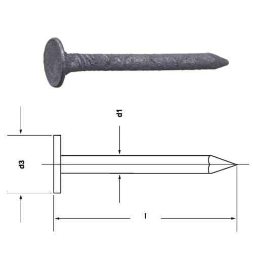 2.0 • 2.5 • 2.8 mm Dachpappstifte//Breitkopfstifte feuerverzinkt tzn