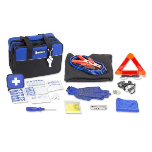 MICHELIN Auto Road Safety Emergency Tools and First Aid Kit in Carry Bag