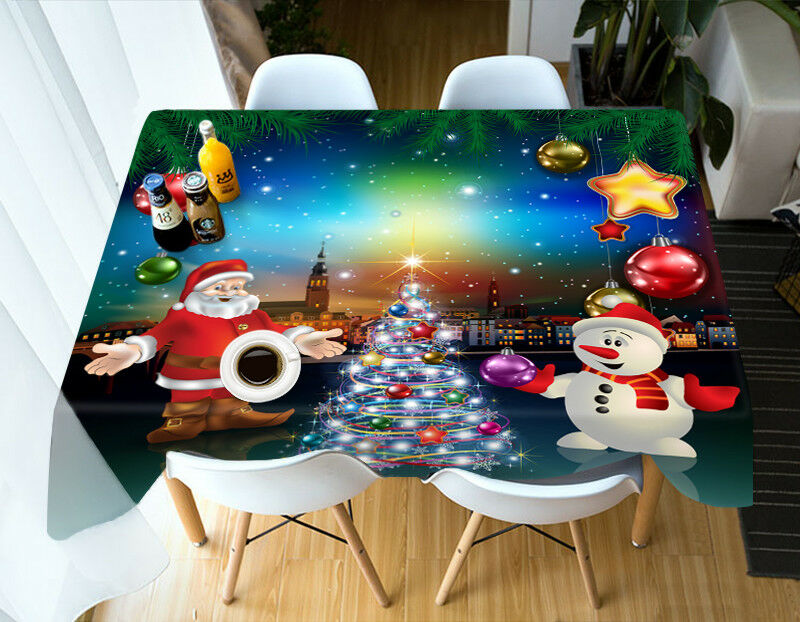 3D Noël Xmas 40 Nappe Table Cover Cloth fête d'anniversaire AJ papier peint UK