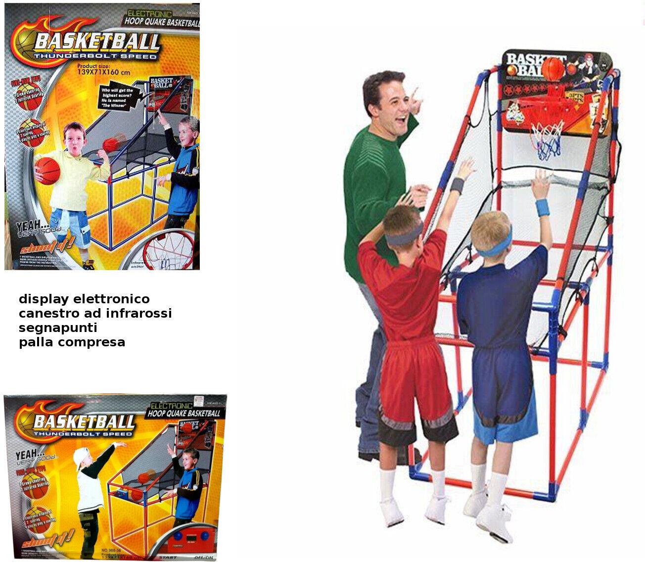 Canestro  Basket Elettronico Segnapunti ad Infrarossi Palla Luci e Suoni Rete  tienda de bajo costo