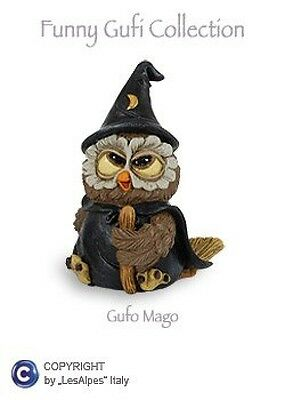 GUFI LES-ALPES GUFO MAGO IN RESINA 014 92406 - Gufetto