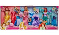 Disney Princess Ariel, Belle, Forever Fairytale 3 Dolls and Fashions Gift Set