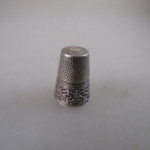 AnpassungsfäHig Fingerhut Untere Hälfte Mit Ornamenten Verziert Silber (47388) GroßE Auswahl;