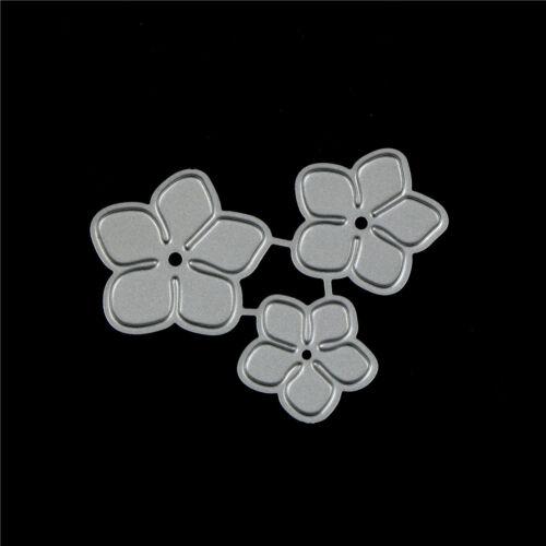 3Pcs Pequeña Flor Diseño Corte De Metales Die para Bricolaje scrapbookingalbumpapercardfo