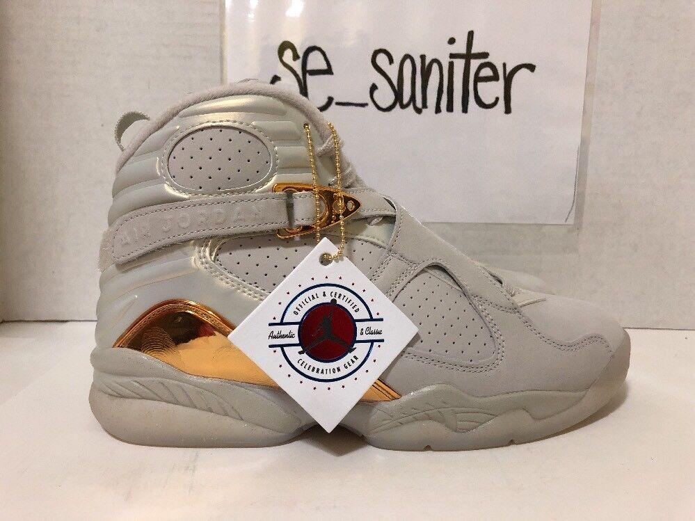 Nike air jordan 8 retrò c & c oro coppa coriandoli 832821-030 sz