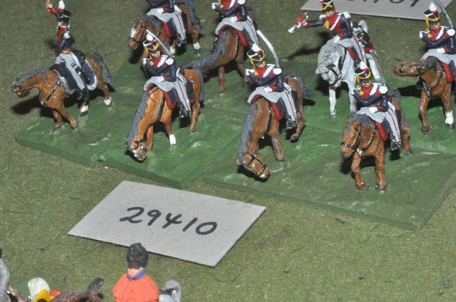 25mm napoleonic   british - light dragoons 8 figures - cav (29410)