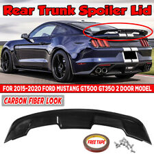 Carbon Fiber Gt Style Rear Trunk Lid Spoiler Wing For Ford Mustang 2dr 2015 2020 Fits Mustang