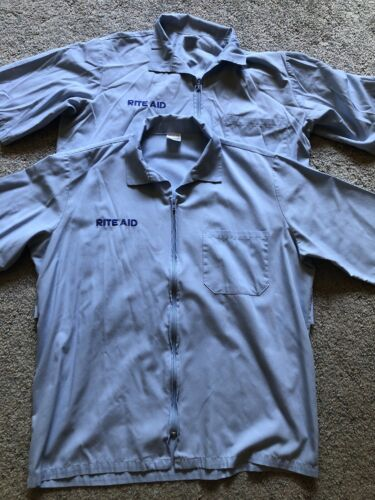 Lot Of 2 Rite Aid Zip Up Smocks For Pharmacy Techn