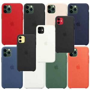 Funda-Para-Apple-iPhone-XR-XS-11-Pro-Max-Original-carcasas-de-Silicona-Genuina