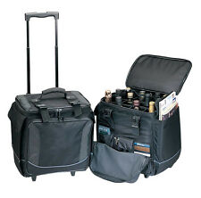 Bellino Bottle Limo 12 Bottle Insulated Wine Tote Case Wheel Travel Cooler