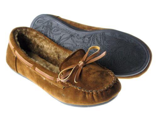 Neuf Enfants Filles Mocassins Moelleux Fourrure Synthétique Slip On Indoor Outdoor Slipper Chaussures