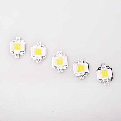 5pcs Pure White 800-900Lm High Power Bright LED Bulb Lamp Light 10 Watt 9-12V