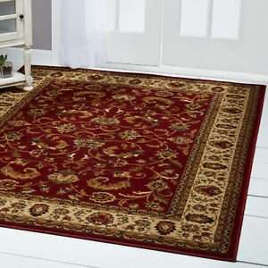 Persian Red Cream Area Rug 4x6 Oriental Carpet 08 Actual 3 6 X 5