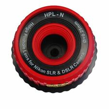 USD - HOLGA PINHOLE HPL-N RED Lens for NIKON DSLR D90 D7000 D700