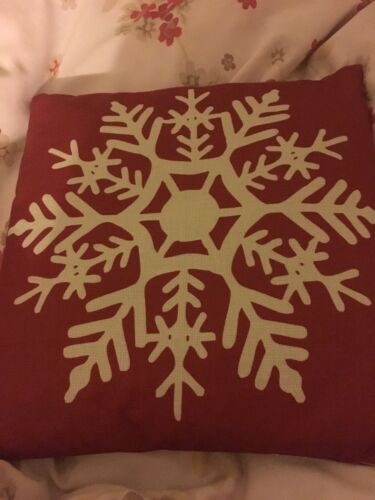 red E4B6 Beautiful Snowflake In Red Merry Office Square 18 X 18 inch:Beige