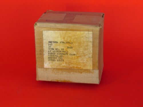 BEECHCRAFT // HAWKER Part 278-377-3 NOS Bulkhead Rubber Pad Prop Strip Seal
