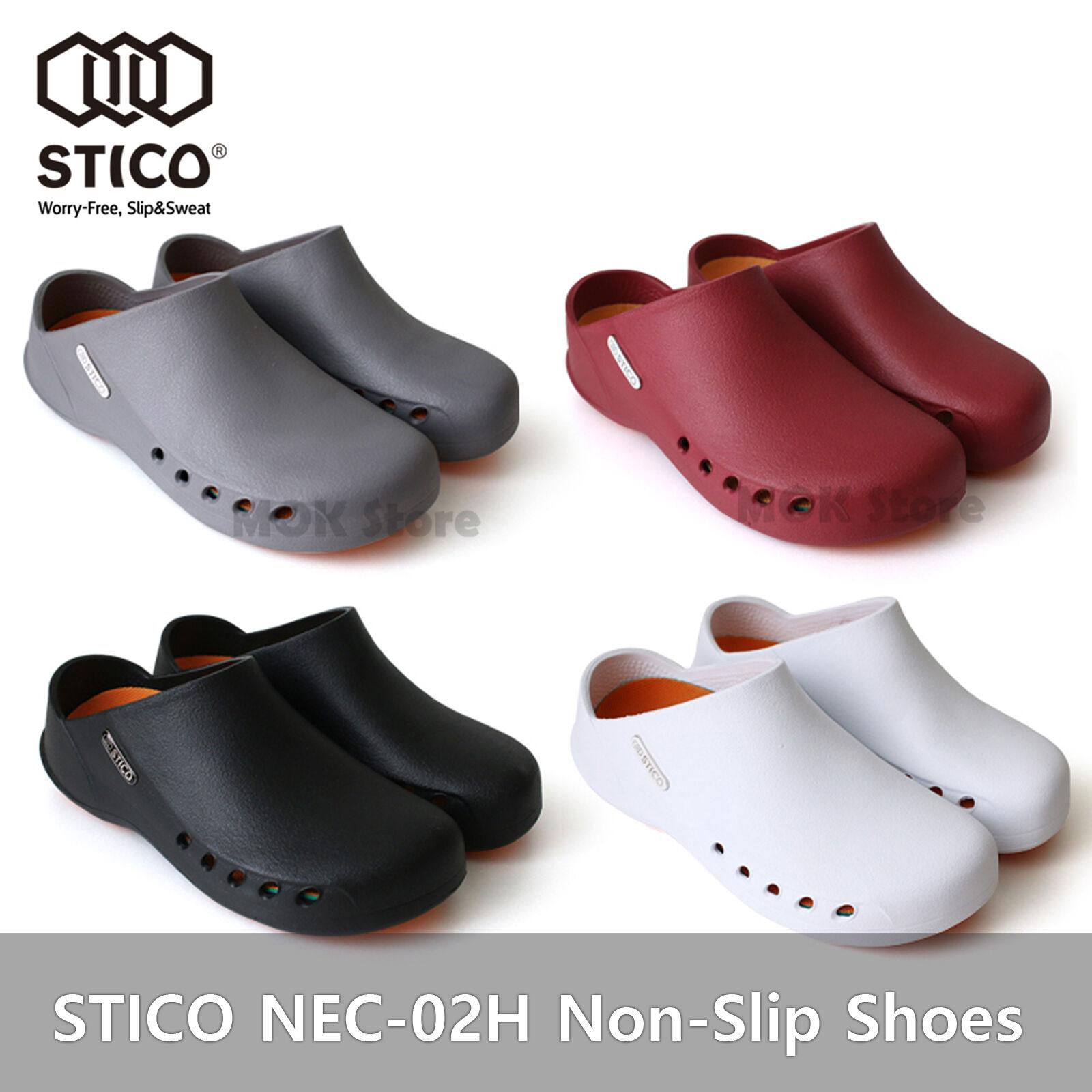 STICO NEC-02H Women Chef Kitchen Shoes Non-Slip Cook Slipper Indoor Clean Rubber