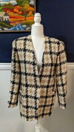 VTG Fyzal Virani Designer Woven Tweed Boucle Beige