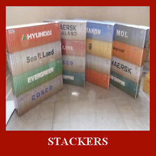 HO 1:87 Scale Stack of x 4 Shipping Containers 40ft Model Card Kit HO 1:87 Gauge