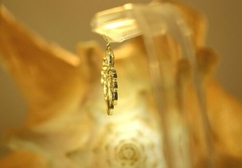 17MM SOLID 14K YELLOW GOLD SHINY TEXTURED HAWAIIAN HE/'E TAKO OCTOPUS PENDANT