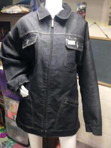 chaqueta negra con Denim de forro acolchado mezclilla interior 2xl de Tamaño Rockawear Fw5qSS