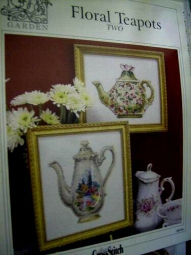 Your Choice-Mediterranean Vista Marie/'s Garden Cross Stitch Chart Floral Teapo