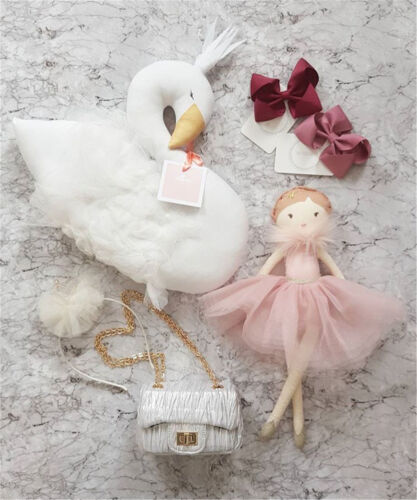 Kids Stuffed Plush Toy Flamingo Sleeping Pillows Swan Doll Decor Gift Cushions