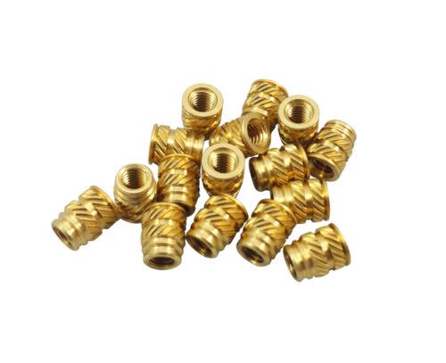 50x #10-32 LONG Brass Threaded Heat Set Inserts for Plastic 3D Printing Metal