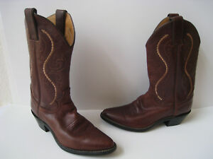 f7234d2f550f48 Image is loading JUSTIN-COWGIRL-WESTERN-COFFEE-SALTILLO-LEATHER-BOOTS-WMNS-