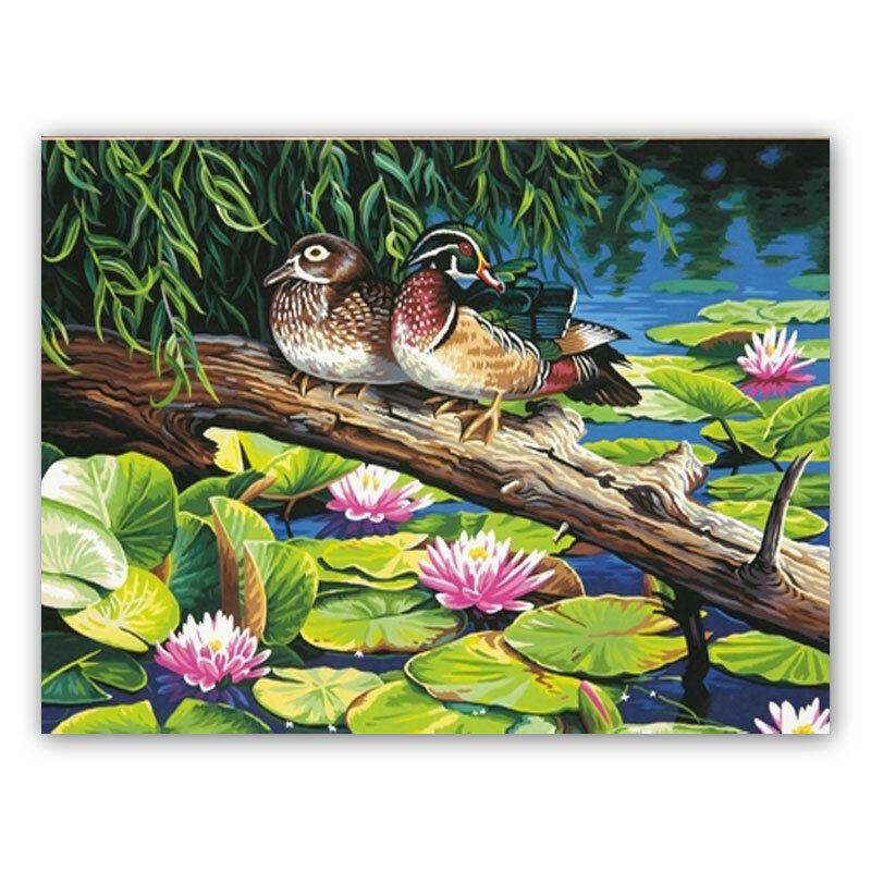 MALEN NACH ZAHLEN   The Lily Pond - Enten  91467 Dimensions MnZ 51x36 cm    Spielen Sie das Beste