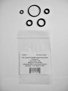 Lancer Post-Mix Dispensing Valve O-Ring Kit / R&S 009-113LA / FDA Material