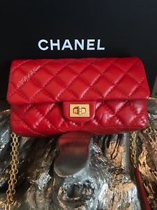 c3817918a323 NWT CHANEL Red Belt Bag WAIST BAG 2.55 REISSUE Bum Fanny Pack TRAVEL ...