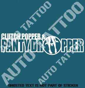036d6272d6e Image is loading PANTY-DROPPER-DECAL-STICKER-SUIT-JAPANESE-JDM-RALLY-